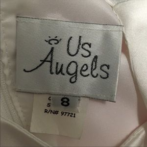 Us Angels Dresses - Us Angels Flower Girl/Communion Gown &Veil, SILVER